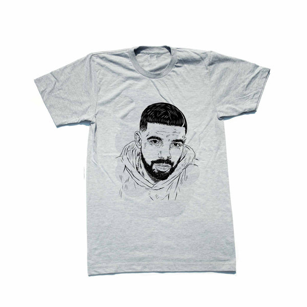 Drake 6 god Grey Tee (Unisex) // T-shirt // Babes & Gents // www.babesngents.com