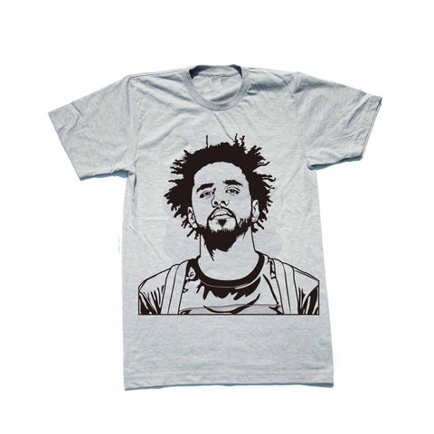 J. Cole Heather Grey Tee // Jcole dreamville coleworld