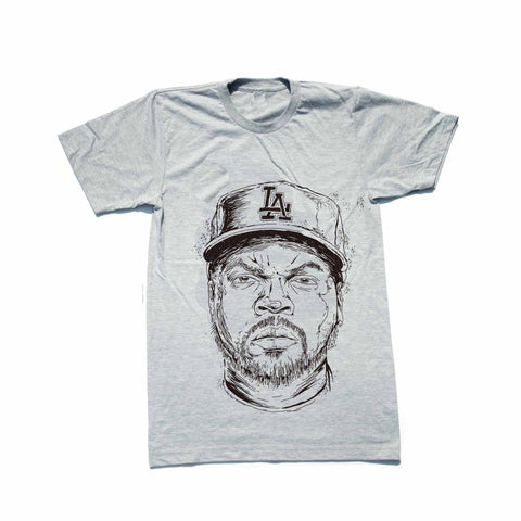 Ice Cube NWA Heather Grey Tee (Unisex)