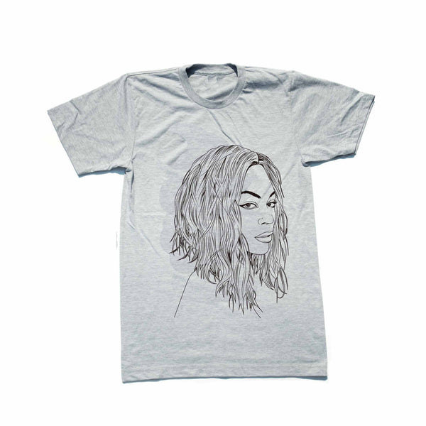 Beyonce Heather Grey Tee // T-shirt // Babes & Gents // www.babesngents.com