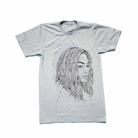 Beyonce Heather Grey Tee // Flawless // I woke up like this