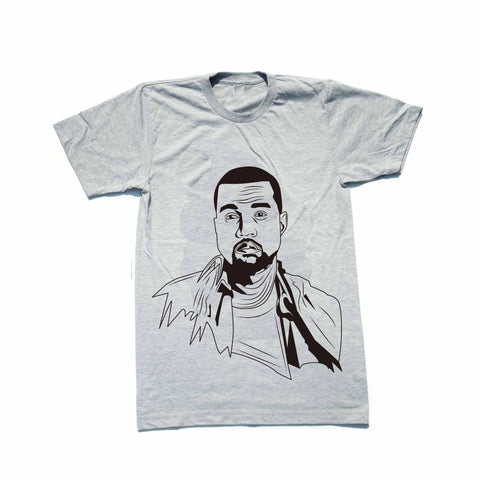 Kanye West Yeezy Heather Grey Tee // swish yeezus tour allday