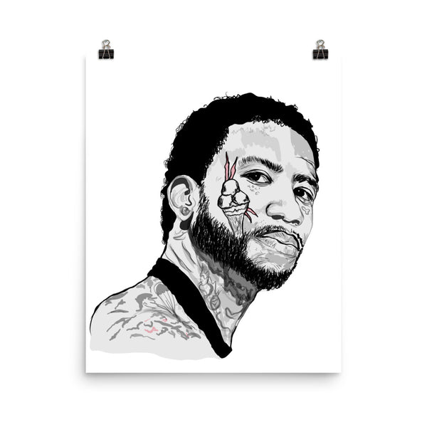 Gucci Mane Art Poster (6 sizes) // Babes & Gents // www.babesngents.com