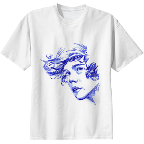 Harry Styles 1D One Direction White Tee (Unisex)