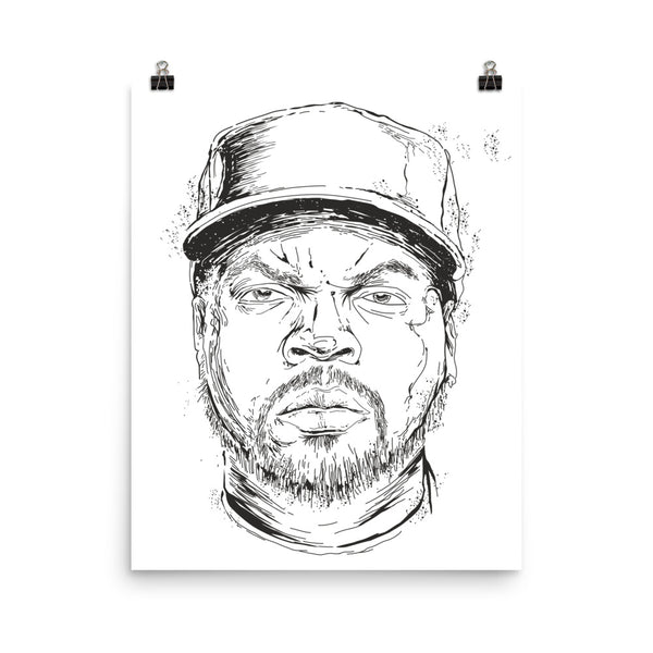 Ice Cube NWA Art Poster (6 sizes) // Hip Hop losangeles // Babes & Gents // www.babesngents.com