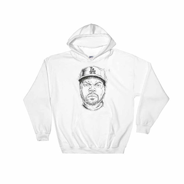 Ice Cube White Hoodie Sweater (Unisex) , Babes & Gents, Ottawa