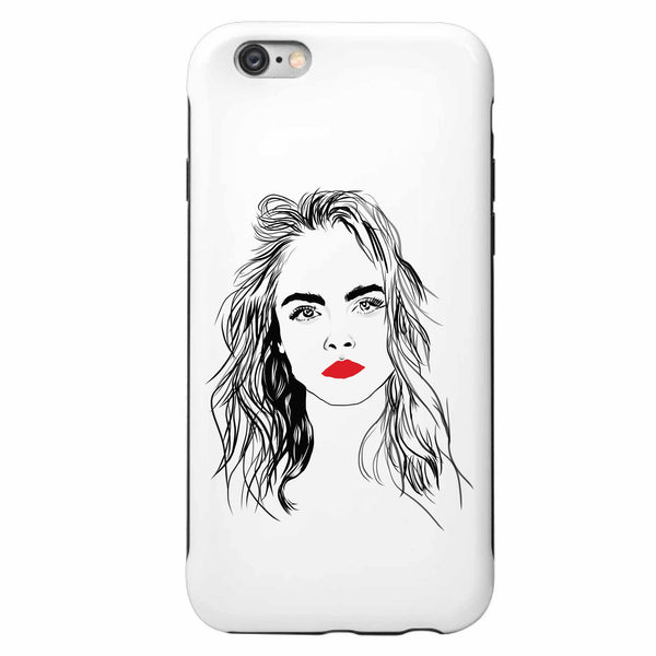 Cara Delevingne Apple IPhone 4 5 5s 6 6s Plus Galaxy Case // Babes & Gents // www.babesngents.com