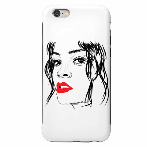 Rihanna Red Lips Apple IPhone 4 5 5s 6 6s Plus Galaxy Case