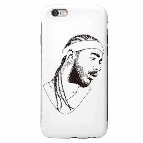 Post Malone White Iverson Stoney Apple IPhone 4 5 5s 6 6s Plus Galaxy Case