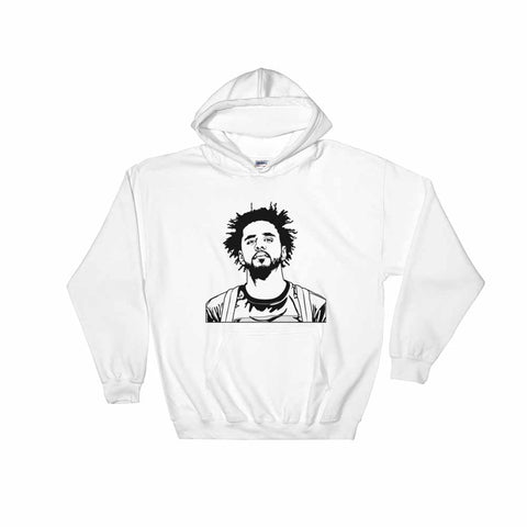 J Cole White Hoodie Sweater (Unisex)