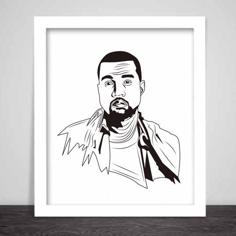 Kanye West Yeezy Art Poster (8x10 to 24x36) // swish yeezus tour allday