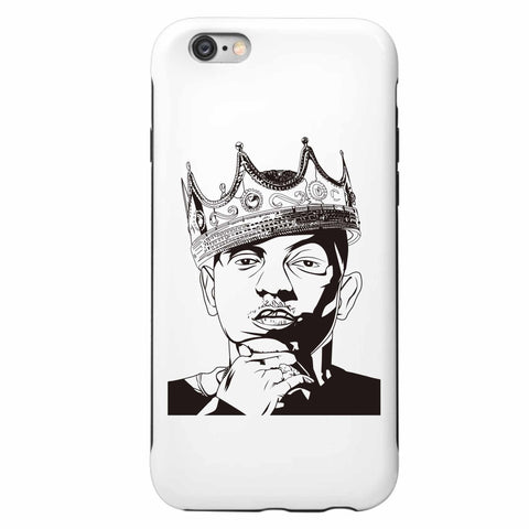 Kendrick Lamar with the Crown Apple IPhone 4 5 5s 6 6s Plus Galaxy Case // alright to pimp a butterfly king kunta i tde