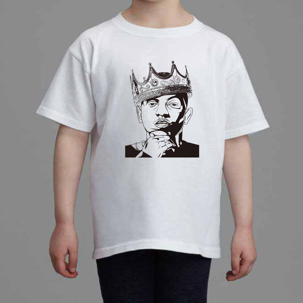 Kendrick Lamar with the Crown Kids White Tee (Unisex) // alright to pimp a butterfly king kunta i tde // Babes & Gents // www.babesngents.com