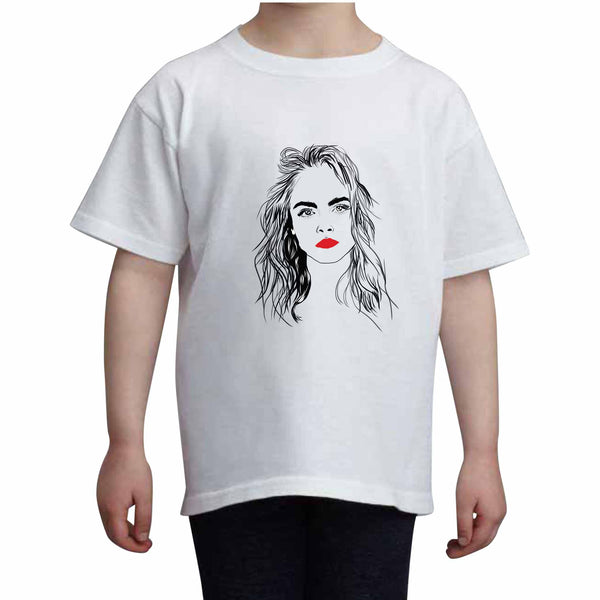 Cara Delevingne Kids White Tee (Unisex) // Babes & Gents // www.babesngents.com