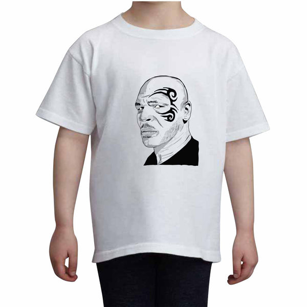 Mike Tyson Kids White+Grey Tee (Unisex), Babes & Gents, babesngents.com