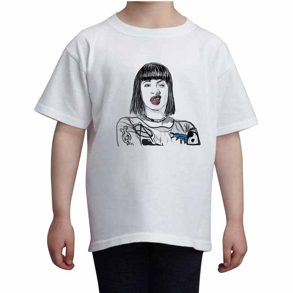 Cardi B Kids White Tee (Unisex) // Babes & Gents // www.babesngents.com