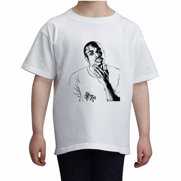 Vince Staples Kids White+Grey Tee (Unisex), Babes & Gents, babesngents.com