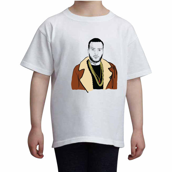 French Montana Kids White Tee (Unisex) // Babes & Gents // www.babesngents.com