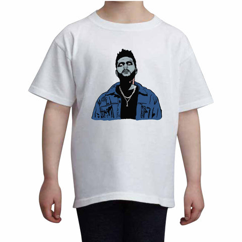 The Weeknd Kids White Tee (Unisex)