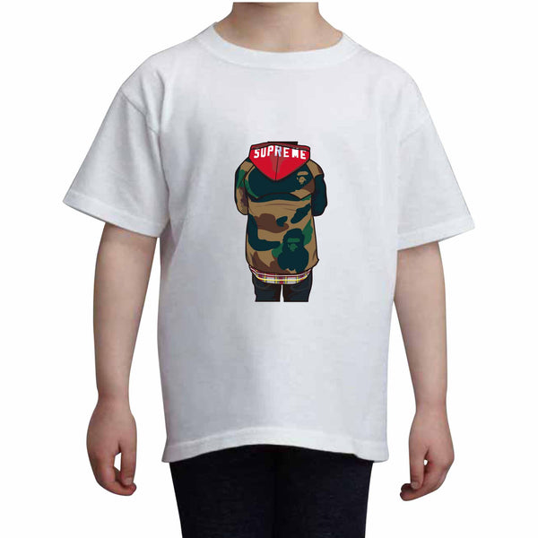 Supreme Bape Kids White Tee (Unisex) // Babes & Gents // www.babesngents.com