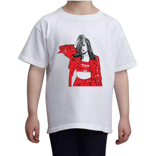 Bebe Rexha Kids White+Grey Tee (Unisex), Babes & Gents, babesngents.com