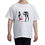 Rihanna Red Lips Kids White Tee (Unisex) // Babes & Gents // www.babesngents.com