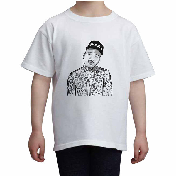 YG Bompton Kids White Tee (Unisex) // Babes & Gents // www.babesngents.com