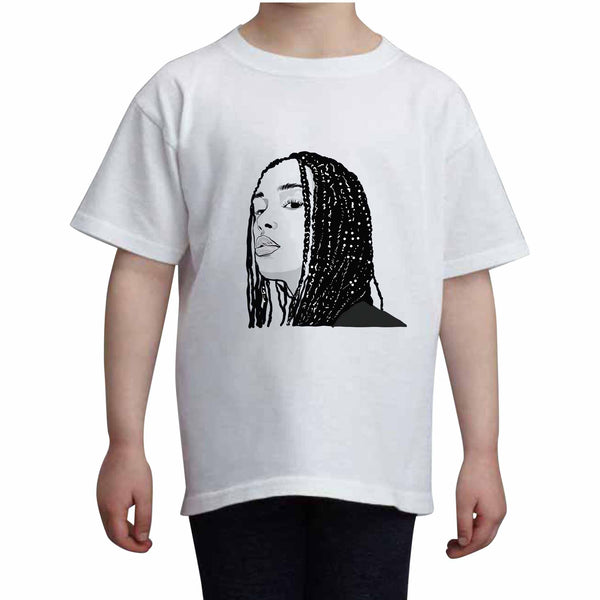 Jorja Smith Kids White Tee (Unisex) // Babes & Gents // www.babesngents.com