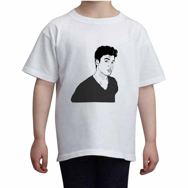 Shawn Mendes Kids White Tee (Unisex) // Babes & Gents // www.babesngents.com