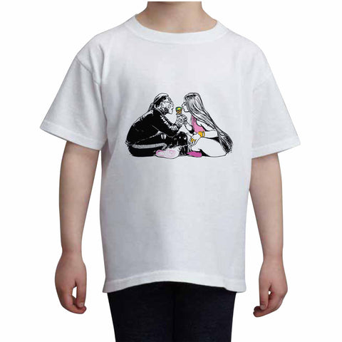 Tekashi 69 6ix9ine and Nicki Minaj Fefe Kids White+Grey Tee (Unisex)