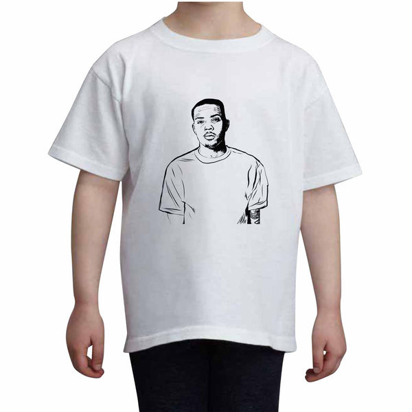 G Herbo GHerbo Kids White+Grey Tee (Unisex), Babes & Gents, babesngents.com
