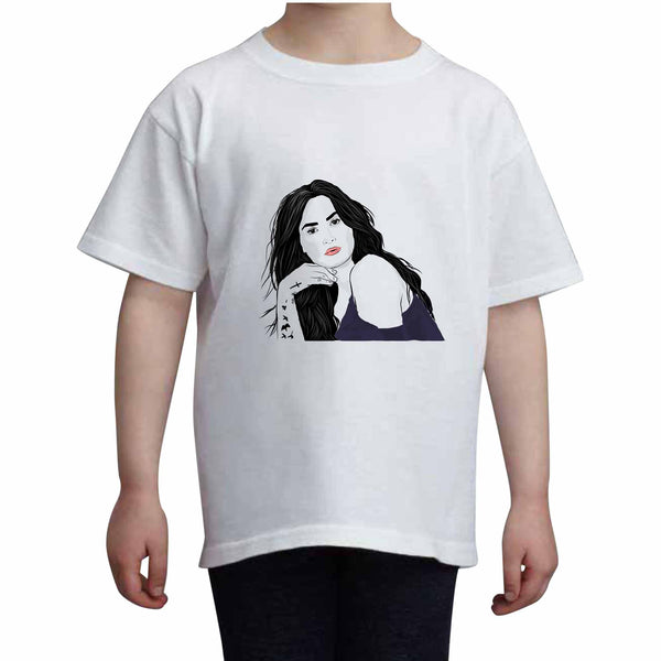 Demi Lovato Kids White Tee (Unisex) // Babes & Gents // www.babesngents.com