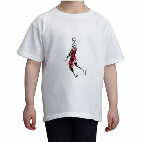 Michael Jordan Kids White+Grey Tee (Unisex)