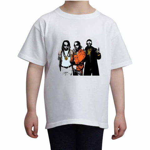 Quavo from migos 2.0 Kids White Tee (Unisex)