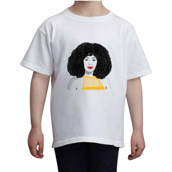 Solange Kids White Tee (Unisex) // Babes & Gents // www.babesngents.com