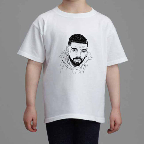 Drake 6 god Kids White Tee (Unisex)