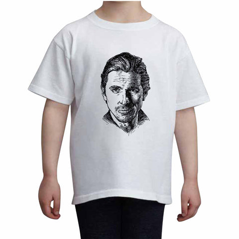 Christian Bale Kids White+Grey Tee (Unisex)