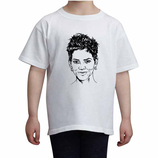 Halle Berry Kids White+Grey Tee (Unisex), Babes & Gents, babesngents.com