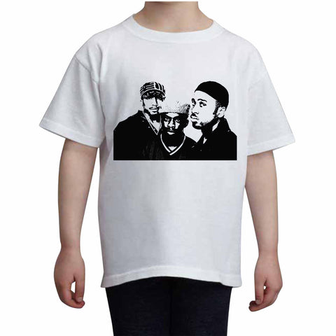 A Tribe Called Quest Kids White+Grey Tee (Unisex)