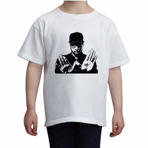RZA Kids White+Grey Tee (Unisex)
