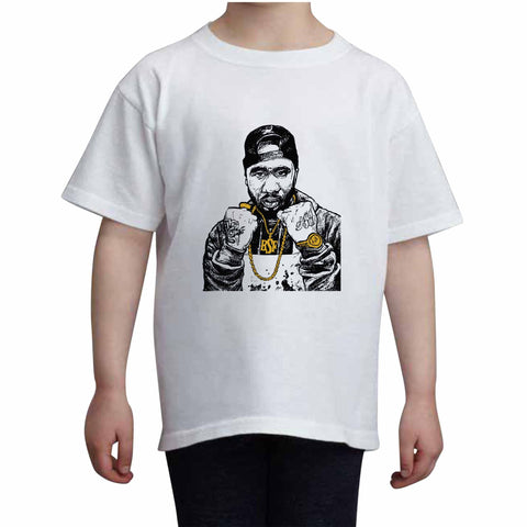 Benny the Butcher Kids White+Grey Tee (Unisex)