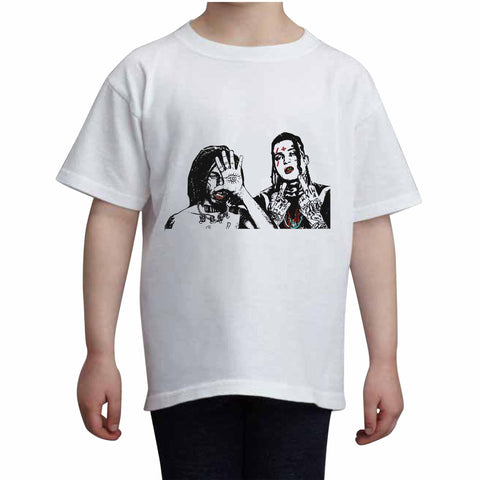City Morgue Kids White+Grey Tee (Unisex)