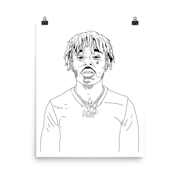 Lil Uzi Vert Art Poster (6 sizes) // Babes & Gents // www.babesngents.com