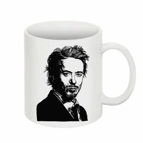 Robert Downey, Jr. Robert Downey Jr 11 0Z Ceramic White Mug