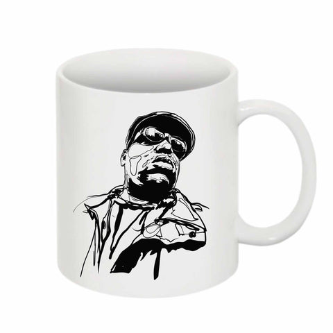 The Notorious B.I.G. Biggie smalls 3 11 0Z Ceramic White Mug