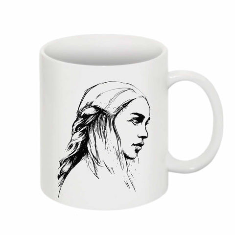 Emilia Clarke Game of Thrones Khaleesi Mother of Dragons 11 0Z Ceramic White Mug