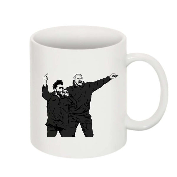 The Weeknd and Drake 11 0Z Ceramic White Mug // Babes & Gents // www.babesngents.com