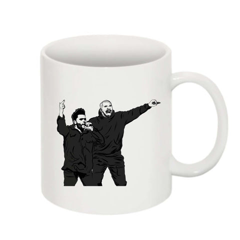 The Weeknd and Drake 11 0Z Ceramic White Mug