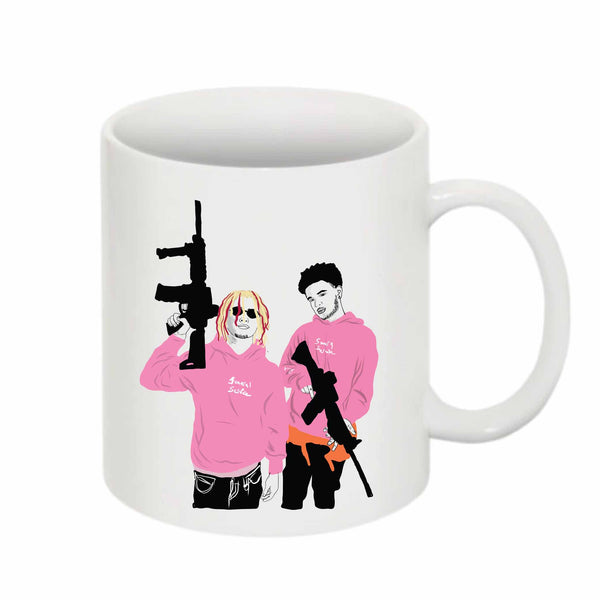 Lil Pump + Smokepurpp 11 0Z Ceramic White Mug // Babes & Gents // www.babesngents.com