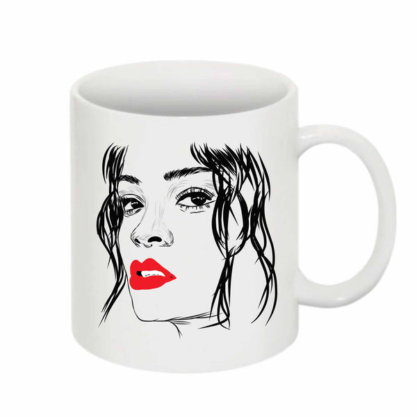 Rihanna Red Lips 11 0Z Ceramic White Mug // Babes & Gents // www.babesngents.com